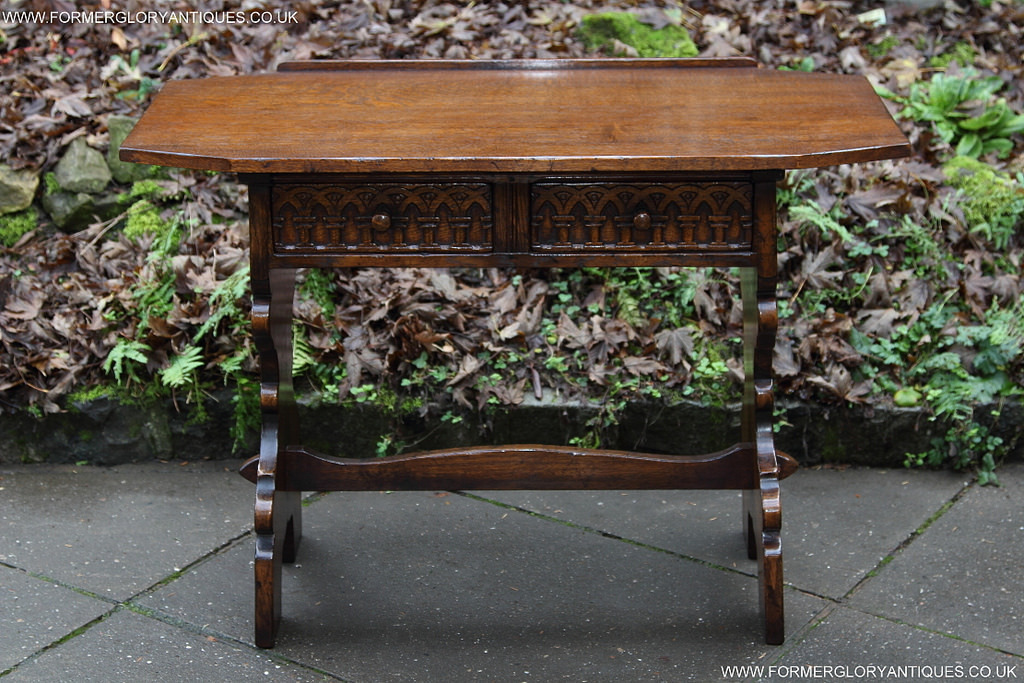 a titchmarsh and goodwin carved oak hall table former. Black Bedroom Furniture Sets. Home Design Ideas