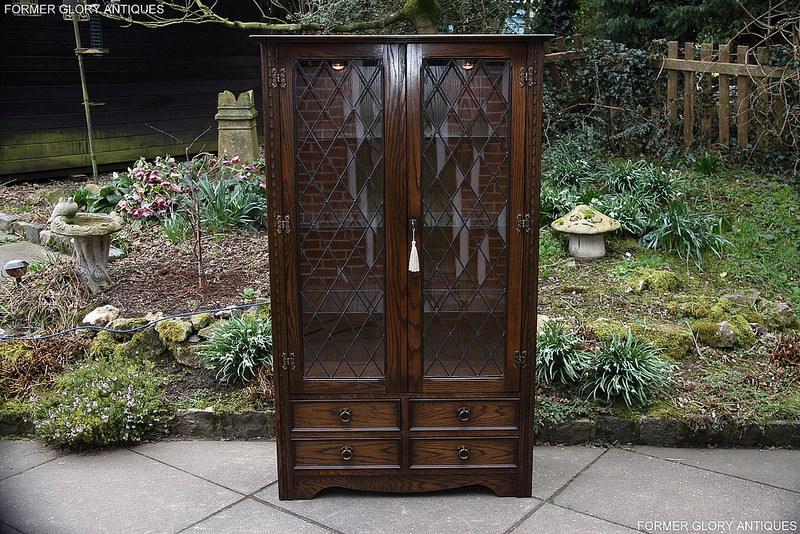 A Jaycee Carved Oak Display China Glass Cabinet Former