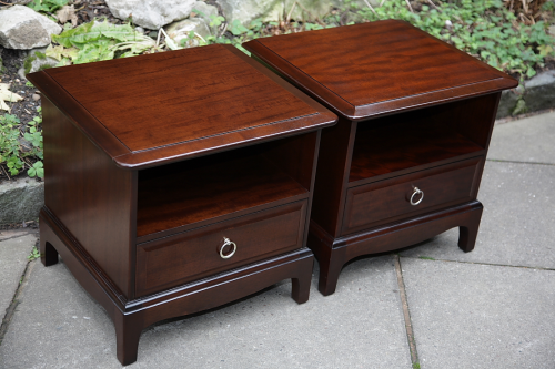 Stag Minstrel Mahogany Bedside Cabinets Lamp Tables