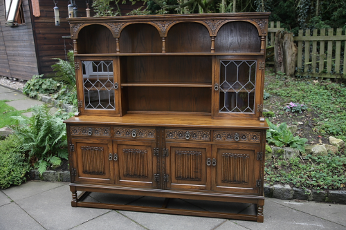 AN OLD CHARM DISPLAY DRESSER CUPBOARD SIDEBOARD CABINET.