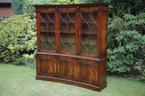 A BEVAN FUNNELL REPRODUX BOOKCASE CABINET CUPBOARD DRESSER UNIT.