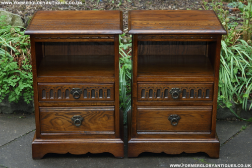 A pair of old charm wood brothers light oak bedside cabinets a pair of old charm wood brothers light oak bedside cabinets cupboard lamp tables chest of aloadofball Image collections