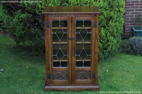 OLD CHARM WOOD BROTHERS LIGHT OAK TV HI-FI MUSIC DVD CD VIDEO DISPLAY CABINET CUPBOARD TABLE.