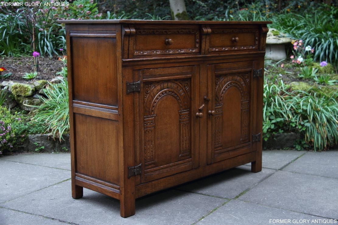 titchmarsh and goodwin carved oak dresser base sideboard. Black Bedroom Furniture Sets. Home Design Ideas