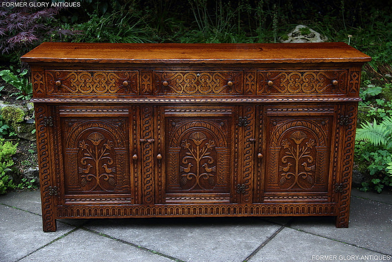 titchmarsh and goodwin style carved oak dresser base. Black Bedroom Furniture Sets. Home Design Ideas