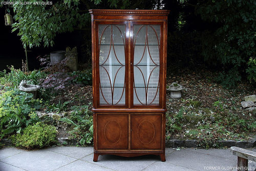 TITCHMARSH AND GOODWIN MAHOGANY DISPLAY CABINET