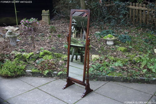 A TITCHMARSH AND GOODWIN SOLID STRESSED OAK BEDROOM CHEVAL MIRROR