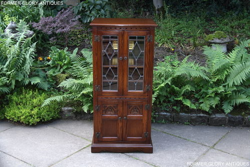 A WOOD BROTHERS OLD CHARM CARVED LIGHT OAK HI FI CABINET