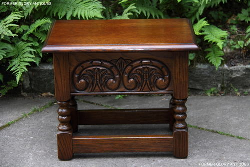 A WOOD BROTHERS OLD CHARM CARVED LIGHT OAK SLIPPER BOX / SEWING BOX