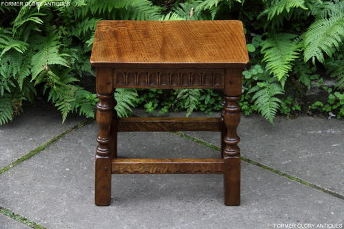 A NIGEL GRIFFITHS MONASTIC SOLID CARVED OAK OCCASIONAL / COFFEE TABLE