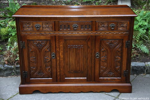 A WOOD BROTHERS OLD CHARM LIGHT OAK NATIONAL TRUST SIDEBOARD / DRESSER BASE